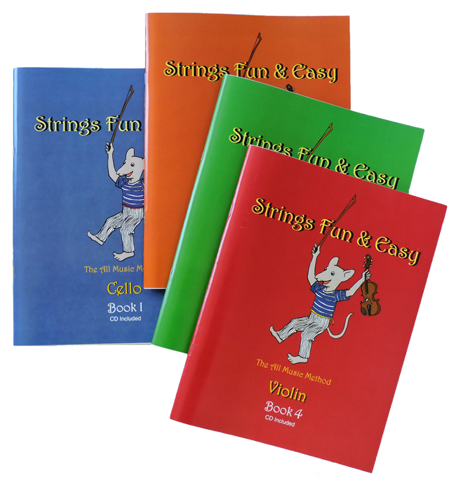 Strings Fun & Easy, all 4 book covers